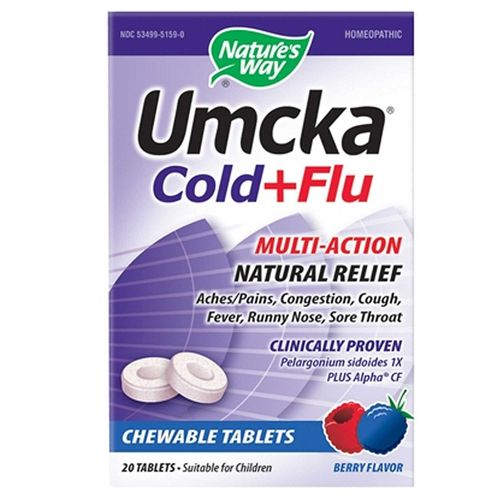 Nature's Way Umcka Cold and Flu Chewable Berry - 20 Tablets