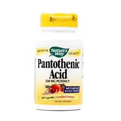 Nature's Way Pantothenic Acid 250 mg