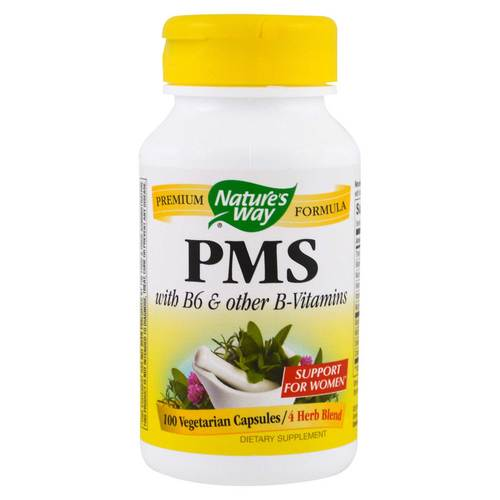 Nature's Way PMS with Vitamin B6  - 100 Capsules - 29771_front.jpg