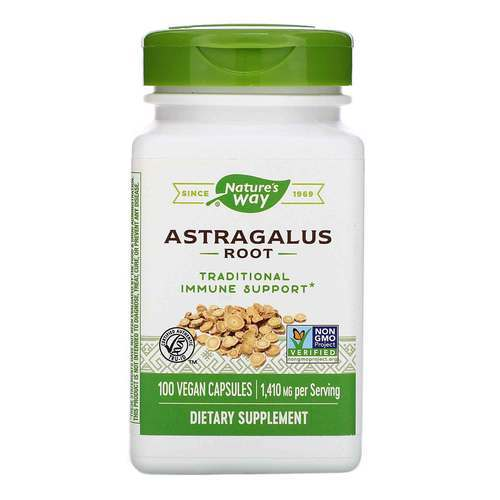Nature's Way Astragalus Root - 470 mg - 100 Vegetarian Capsules - 463_front2020.jpg