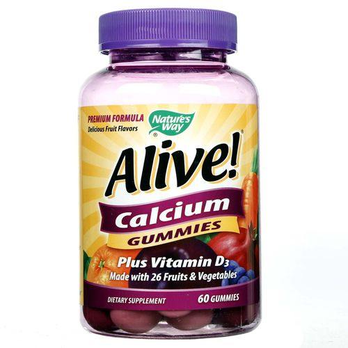 Alive! Calcium Gummies 500 mg