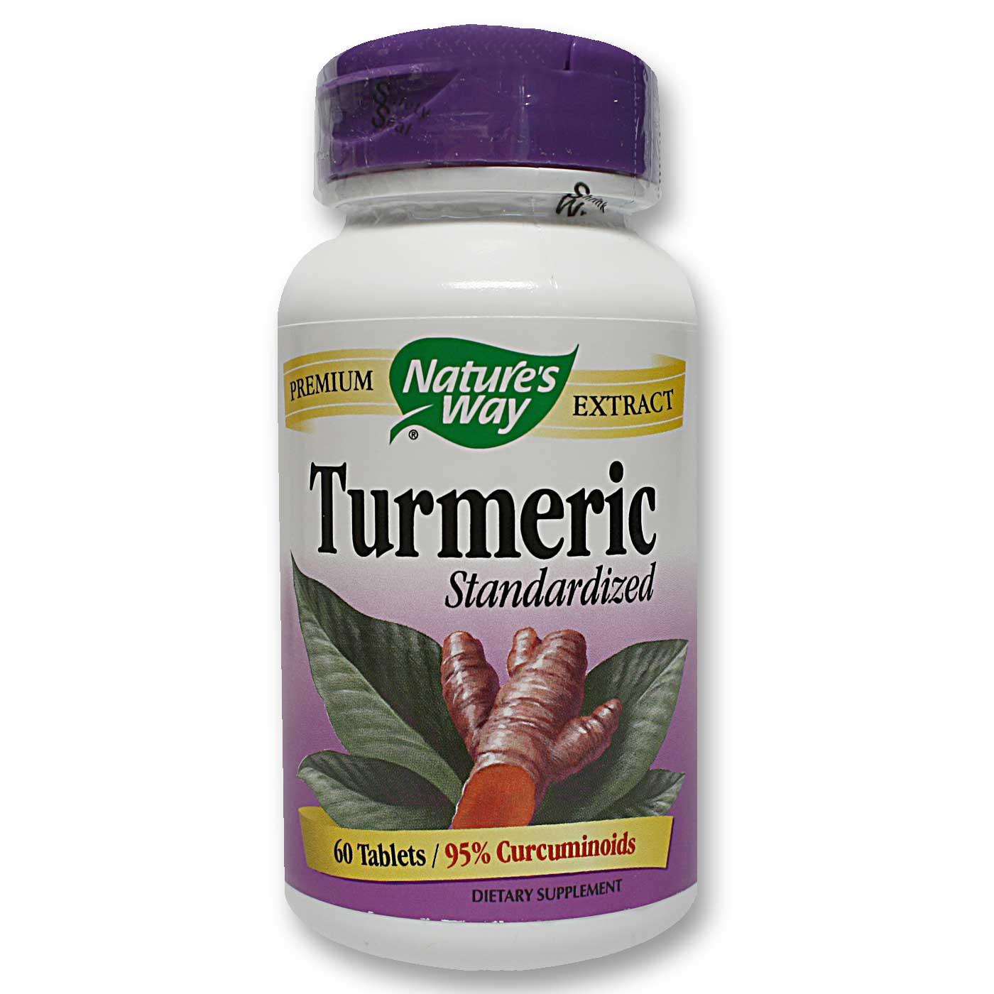 Nature's Way Turmeric - 500 mg - 60 Tablets - eVitamins.com