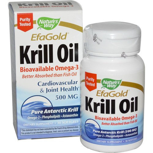 Nature 39 s way efagold krill oil 500 mg 30 softgels for Is krill oil better than fish oil