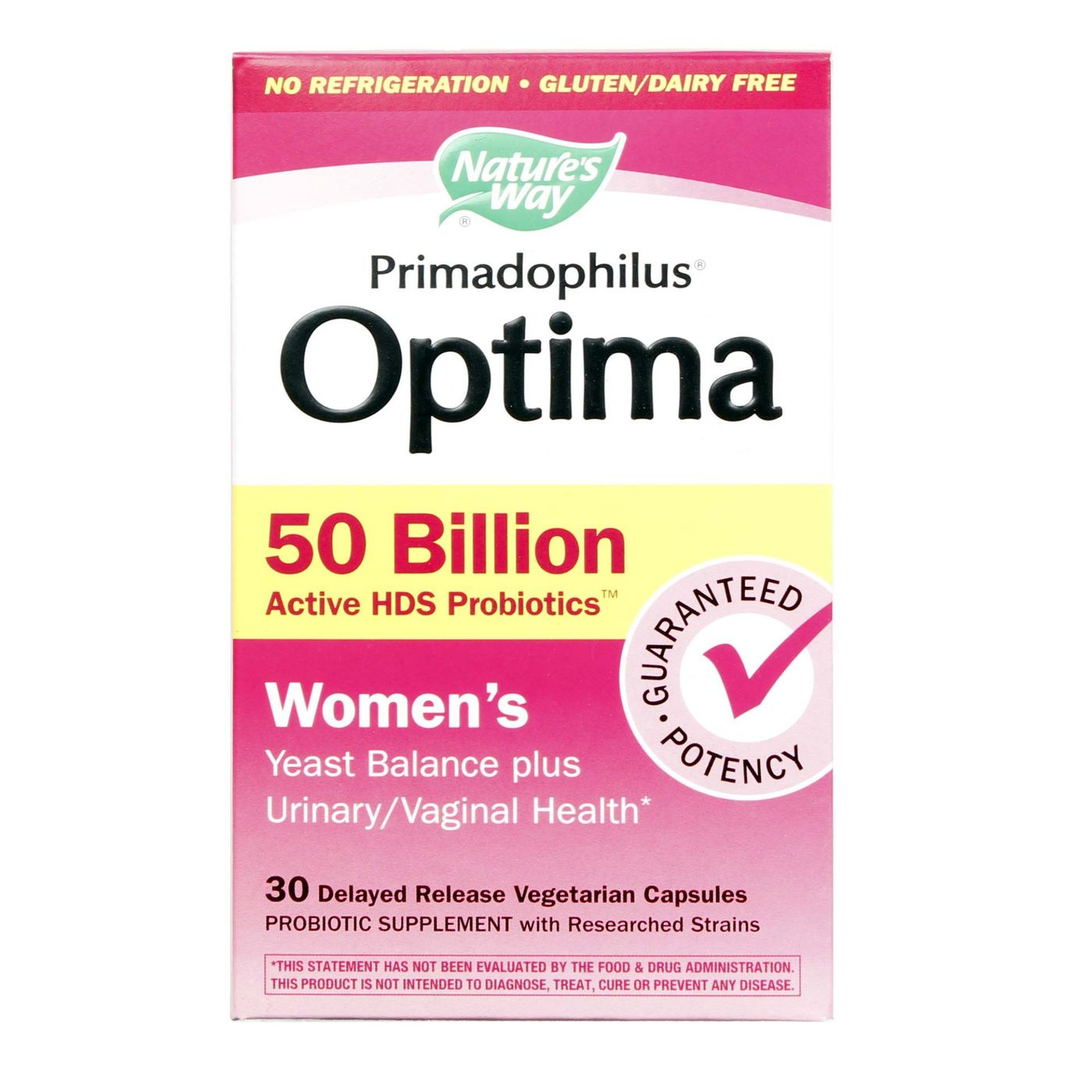 Nature S Way Primadophilus Optima Women S  Billion For Yeast Infection