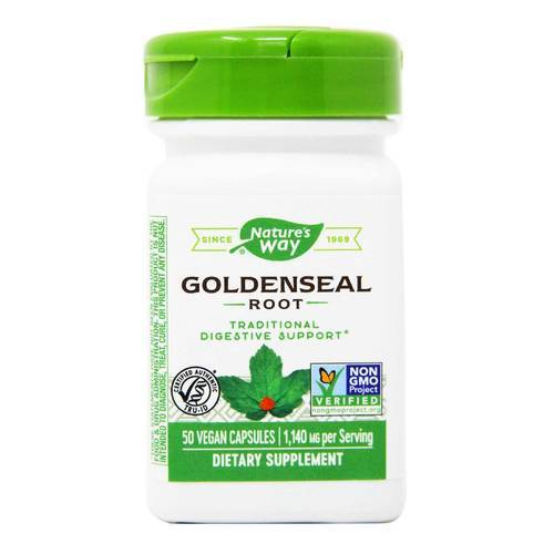 Nature's Way Goldenseal Root - 570 мг - 50 Капсулы - 8509_front2020.jpg