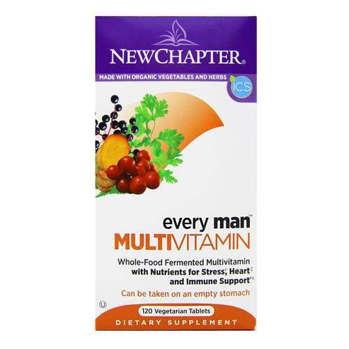 New Chapter Every Man Multivitamin  - 120 Tablets - 15822_front2020.jpg