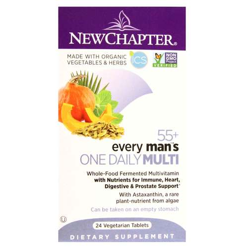 New Chapter Every Man's One Daily Multi 55+   - 24 Vegetarian Tablets - 320992_front.jpg