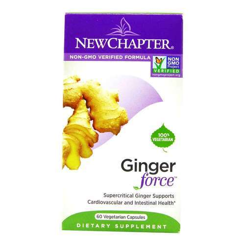 New Chapter Ginger Force - 60 Vegetarian Capsules  - 4644_front2020.jpg