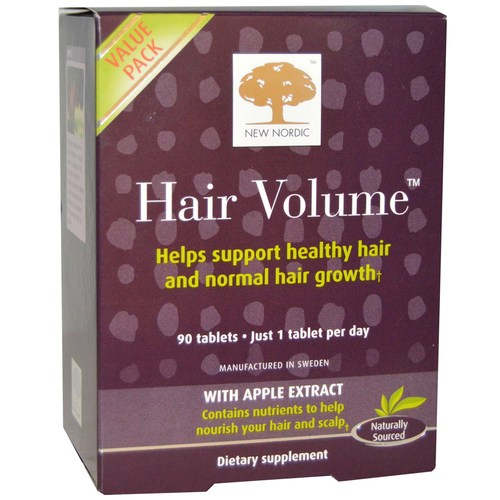 New Nordic Hair Volume - 90 Tablets - eVitamins UK