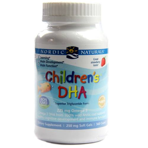 Nordic Naturals Children's DHA Strawberry - 225 mg - 360 Chewable Softgels - 23807_1.jpg