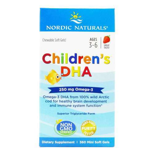 Nordic Naturals Children's DHA Strawberry - 225 mg - 360 Chewable Softgels - 23807_front2020.jpg