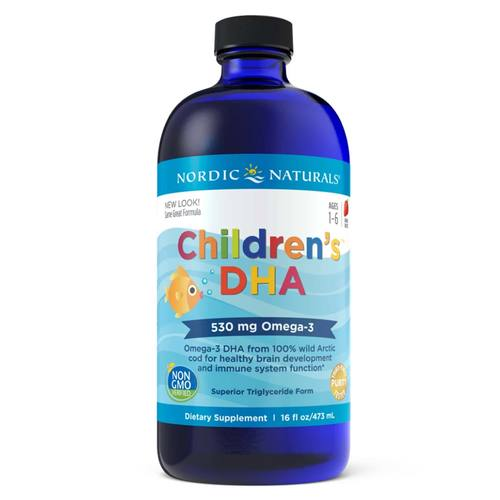 Nordic Naturals Children's DHA Liquid Strawberry - 16 fl oz - 23811_front.jpg