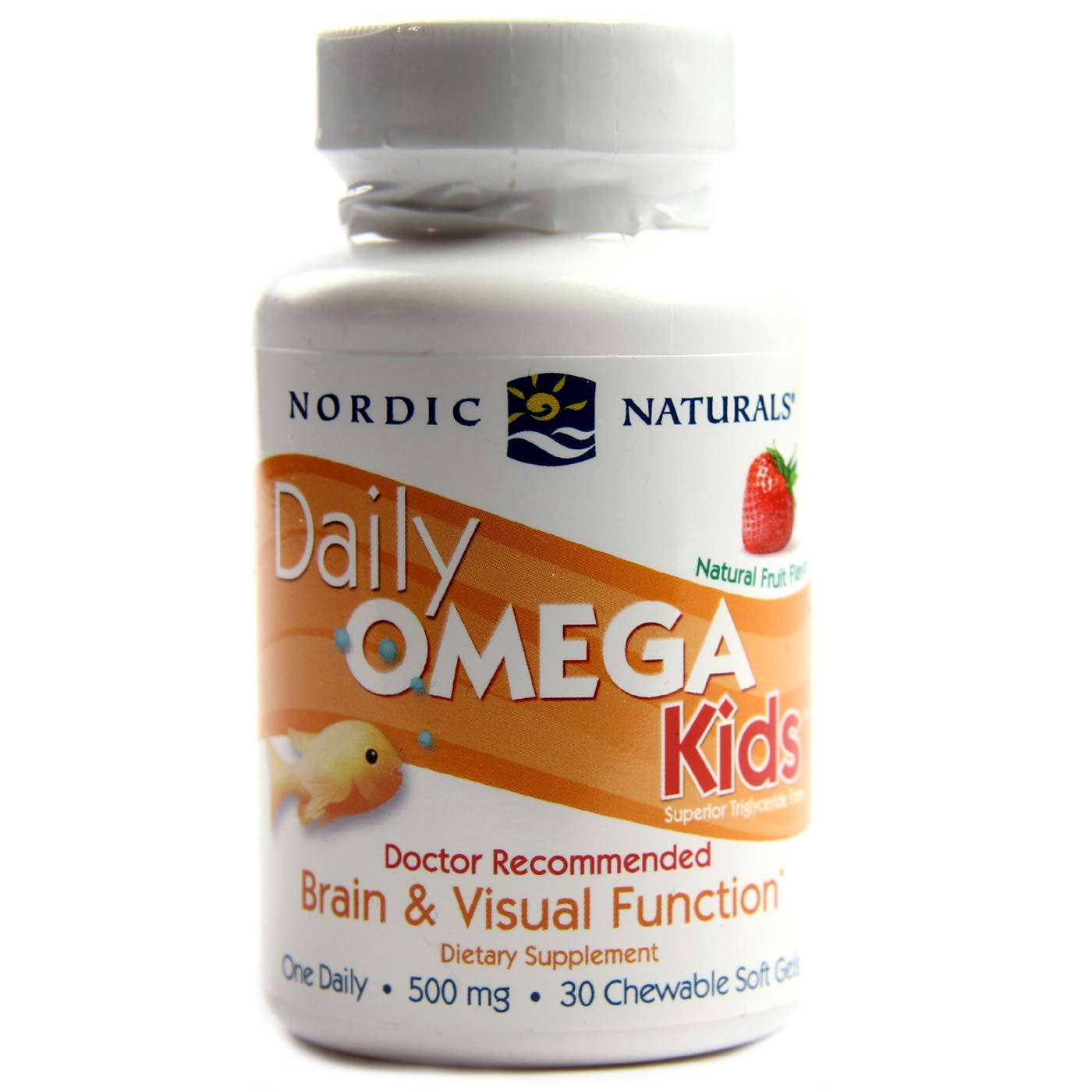 Nordic naturals daily omega kids strawberry 30 chewable for Chewable fish oil