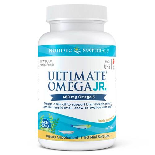 Nordic Naturals Ultimate Omega Junior Strawberry - 90 Chewable Softgels - 23819_front.jpg