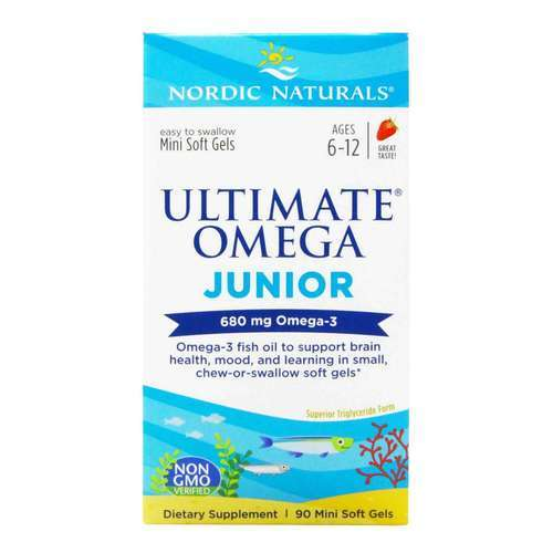 Nordic Naturals Ultimate Omega Junior Strawberry - 90 Chewable Softgels - 23819_front2020good.jpg