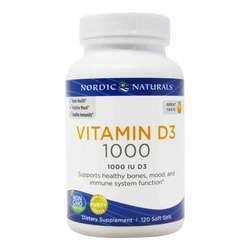 Nordic Naturals Vitamin D3 25 mcg (1000 IU)