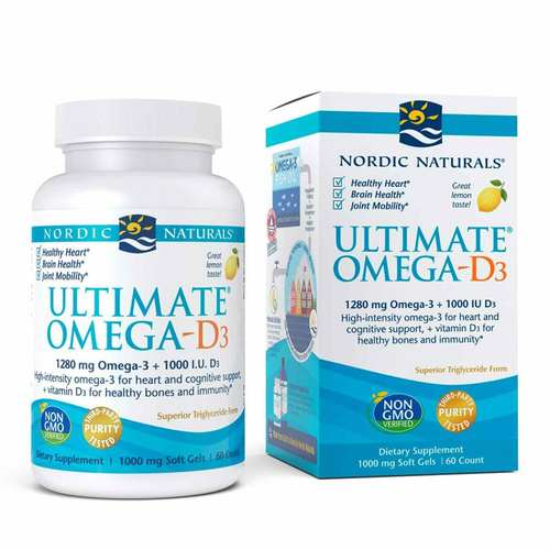 Nordic Naturals Ultimate Omega-D3 Lemon - 60 Softgels - 23853_front.jpg