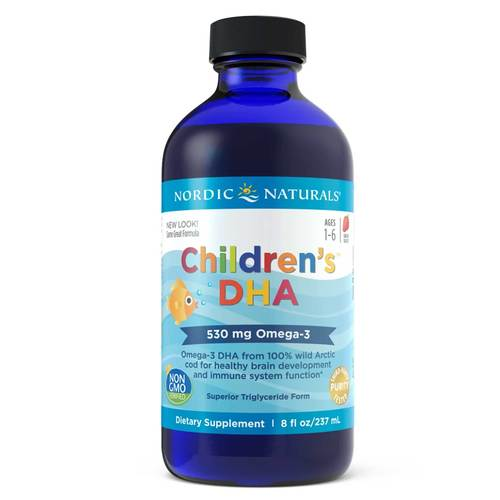 Nordic Naturals Children's DHA Liquid Strawberry - 8 fl oz - 6371_front.jpg