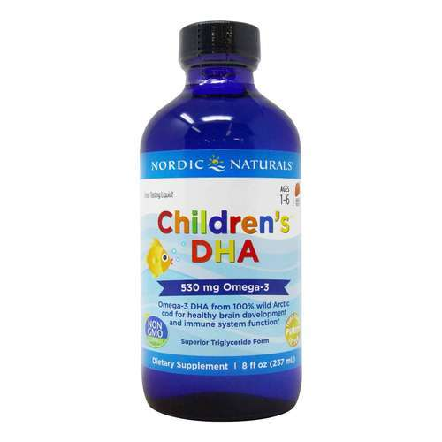 Nordic Naturals Children's DHA Liquid Strawberry - 8 fl oz (237 ml) - 6371_front2020.jpg