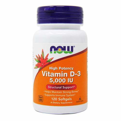 Now Foods Vitamina D-3 - 5000 IU - 120 Softgels - 15354_front2020.jpg
