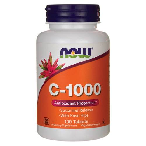 Now Foods C-1000 Sustained Release - 1,000 mg - 100 Tabletas - 15530_front.jpg