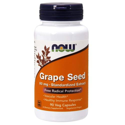 Now Foods Grape Seed - 60 mg - 90 Vegetarian Capsules - 275.jpg