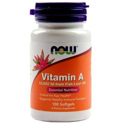 Now Foods Vitamin A - 10,000 IU  Fish Liver Oil