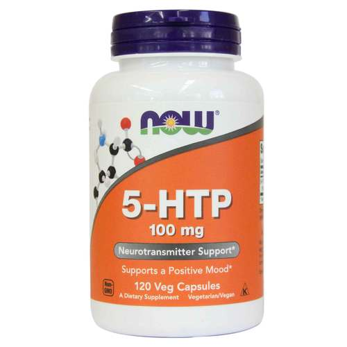 Now Foods 5-HTP - 100 mg - 120 Vegetarian Capsules - 33832_front.jpg