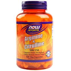 Now Foods Arginine and Citrulline 500/250 mg