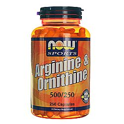 Now Foods Arginine and Ornithine 500250 mg