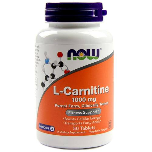 Now Foods L-Carnitine  - 1,000 mg - 50 Tablets - 33898_1.jpg