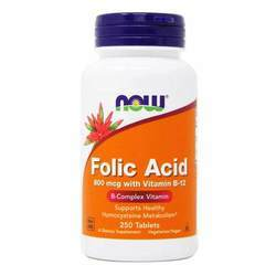 Now Foods Folic Acid 800 mcg with Vitamin B12