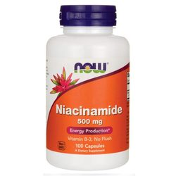 Now Foods Niacinamide 500 mg  - 100 Caps