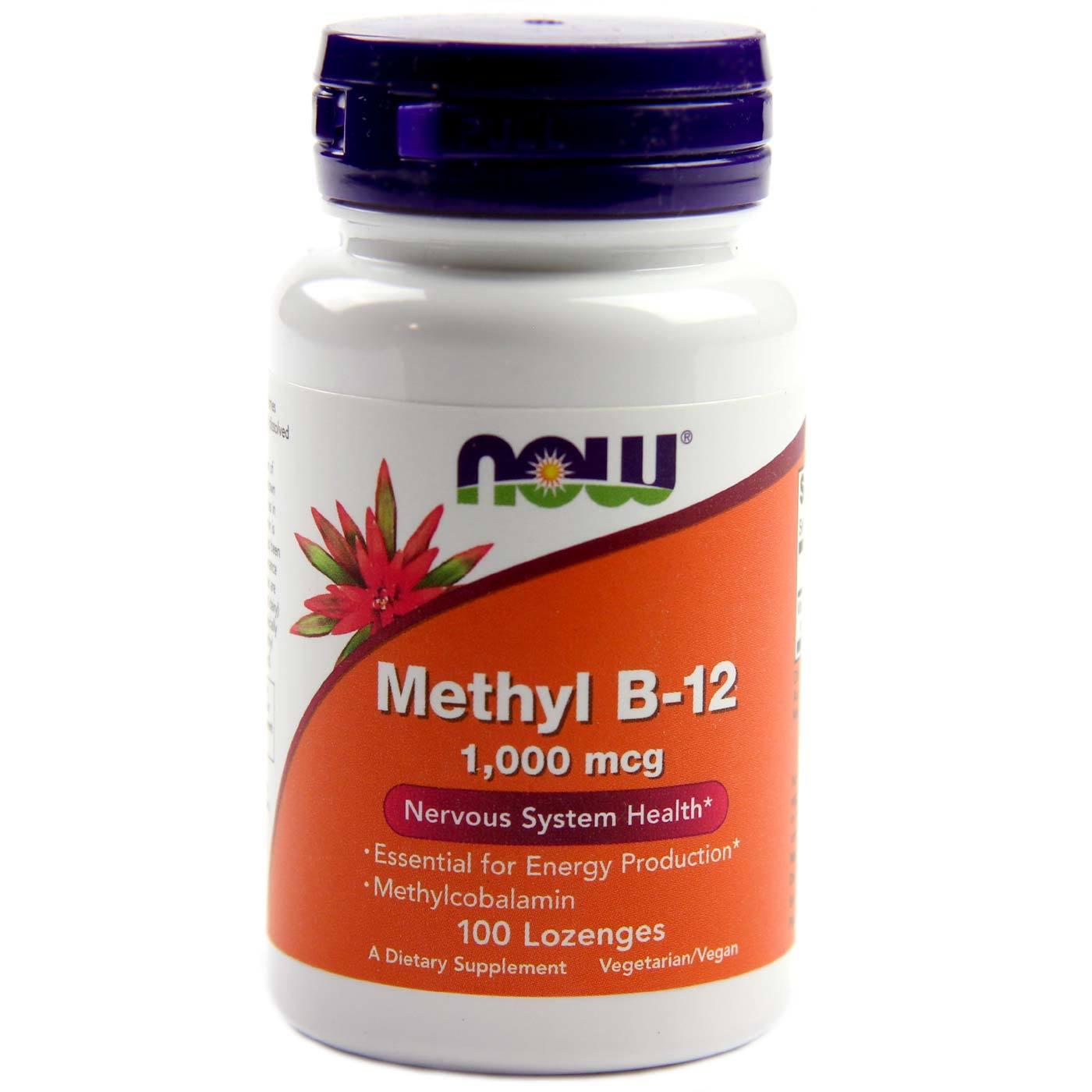 Now Foods Methyl B-12 - 1,000 mcg - 100 Lozenges ...