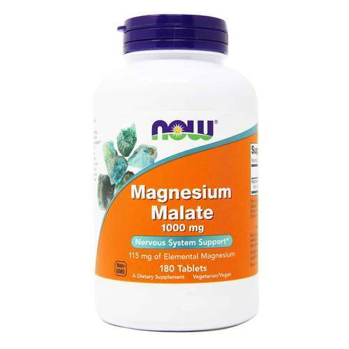Now Foods Magnesium Malate - 1000 mg - 180 Tablets - 34057_front2020.jpg