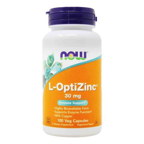Now Foods L-OptiZinc - 30 mg - 100 Capsules - 34081_front2020.jpg