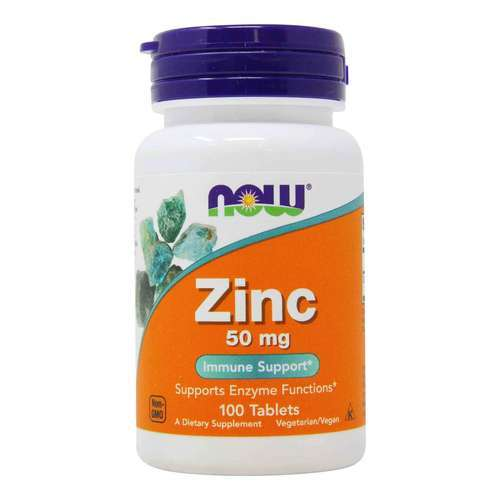 Now Foods Zinc - 50 mg - 100 Tablets - 34082_front2020.jpg