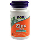 Now Foods Zinc - 50 mg - 100 Tablets