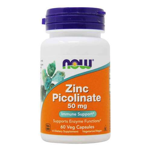 Now Foods Zinc Picolinate  - 50 mg - 60 Veg Capsules - 34084_front2020.jpg
