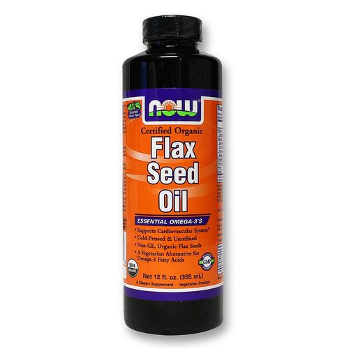 Now Foods Organic Flax Seed Oil  - 12 fl oz - 20120511_313.jpg