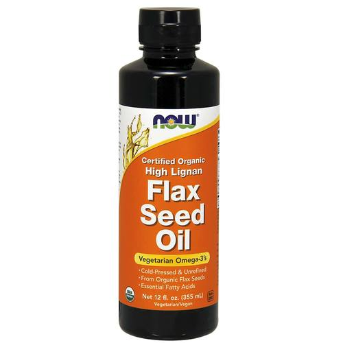 Now Foods High Lignan Flax Seed Oil  - 12 fl oz