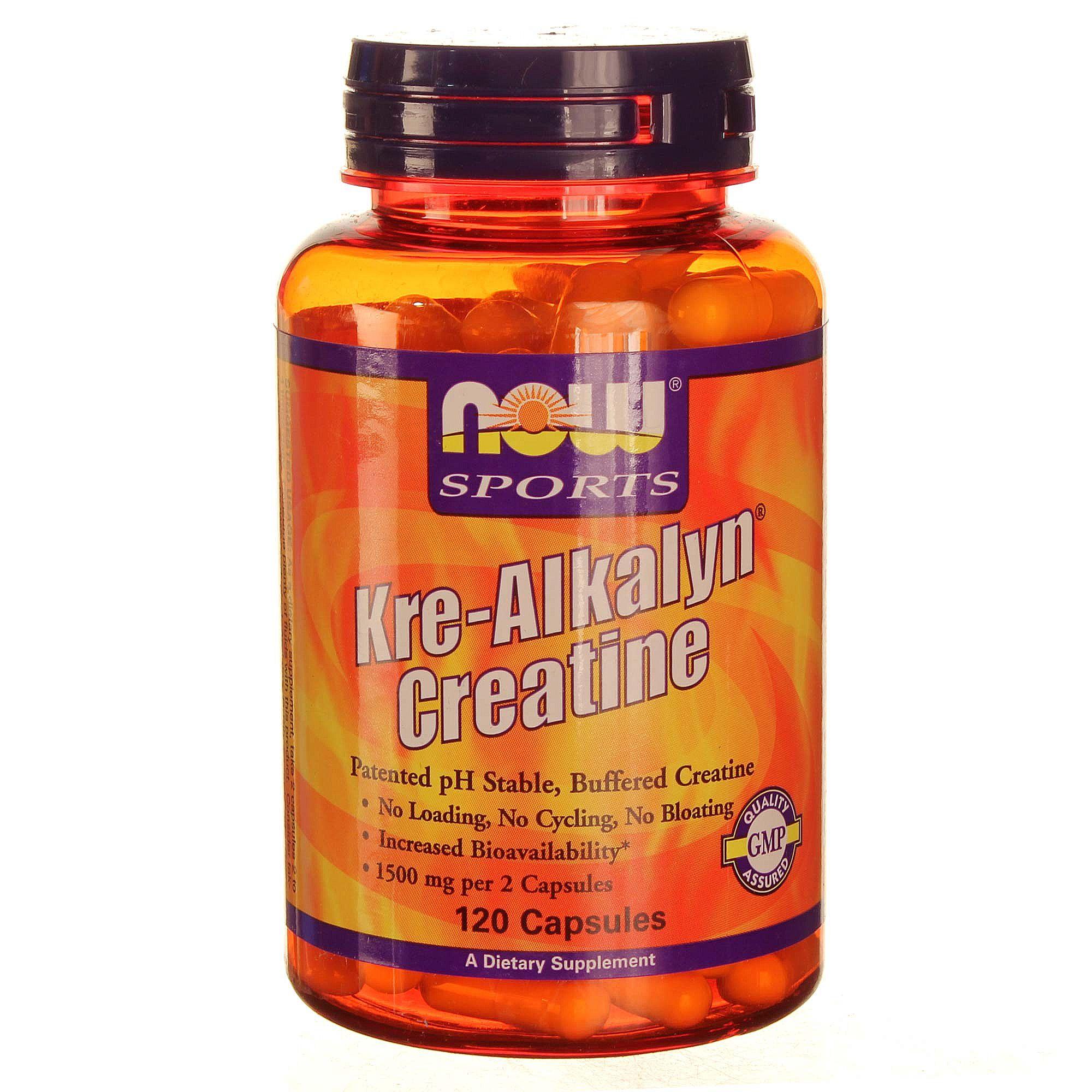 Now Foods Kre Alkalyn Creatine 120 Capsules Evitamins Uk