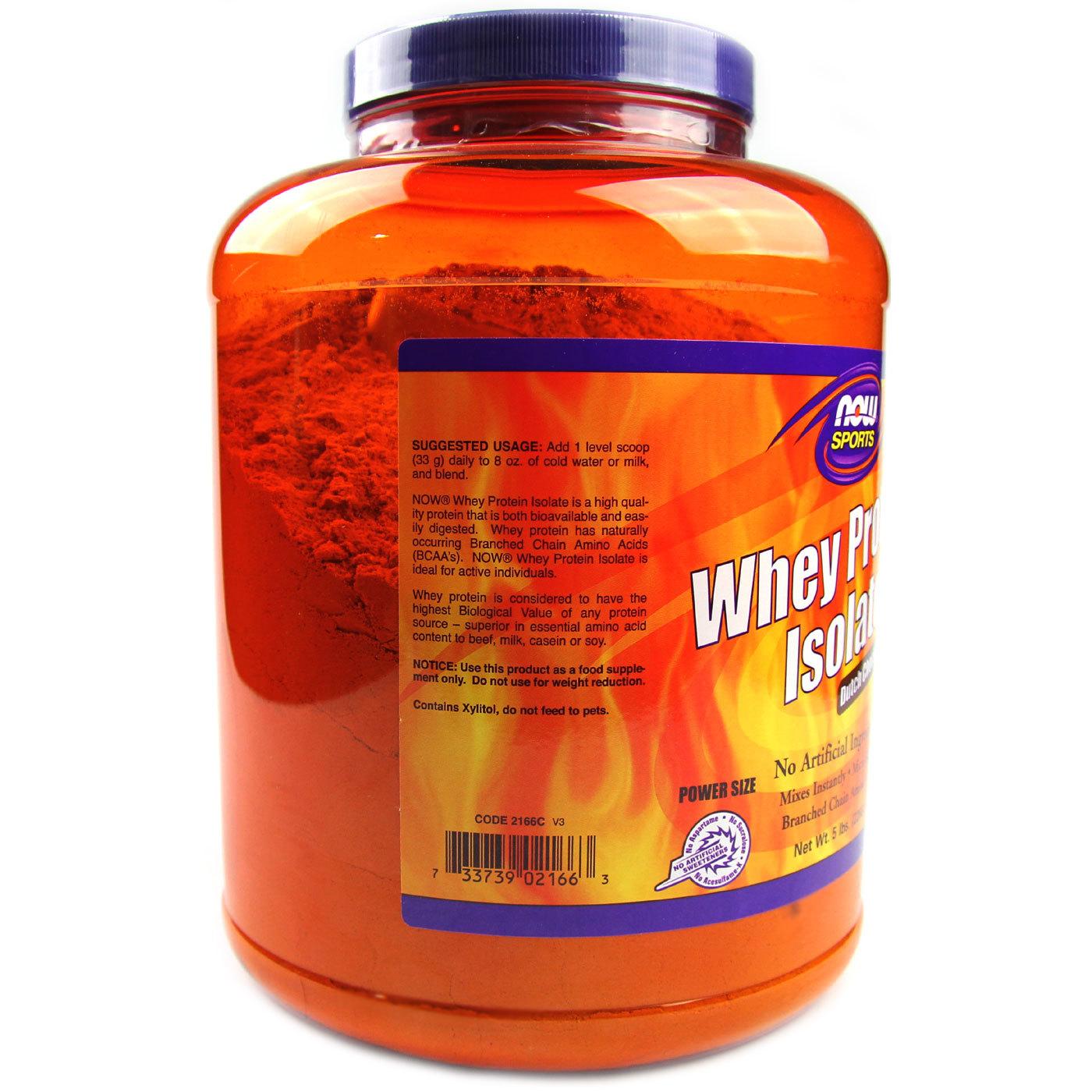 cf9b3cca2 Whey Proteína Isolado Now Foods Dutch Chocolate 2.268 g - Menor ...