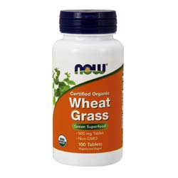 Now Foods Wheat Grass 500 mg