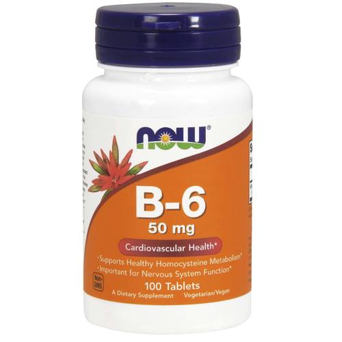 Now Foods B-6 - 100 Tablets