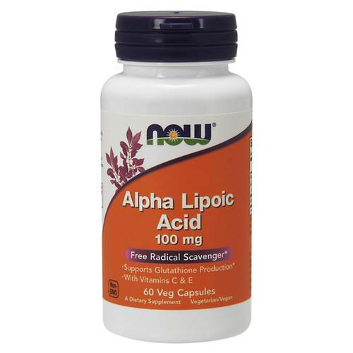 Now Foods Alpha Lipoic Acid  - 100 mg - 60 Vegetarian Capsules - 34307_front.jpg