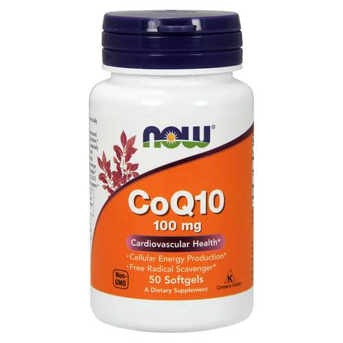 Now Foods CoQ10 100 mg - 50 Μαλακές Κάψουλες - 34341_front.jpg