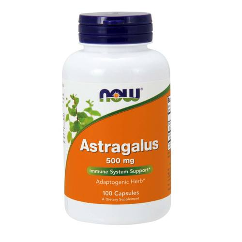 Now Foods, Astrágalo 500 mg - 100 Cápsulas - 733739046055_0.jpg