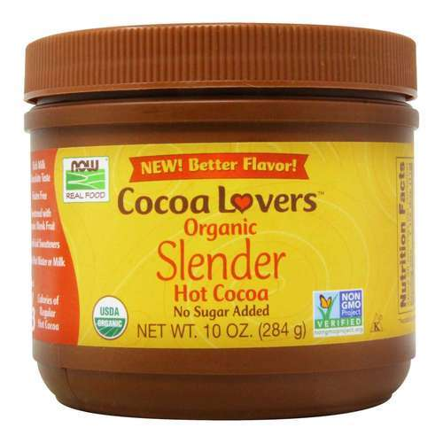 Now Foods Cocoa Lovers Organic Slender Hot Cocoa - 10 oz (284 g) - 34566_front2021.jpg