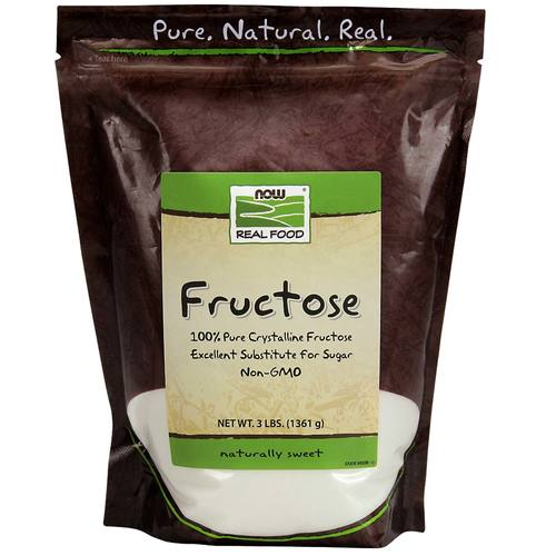 Now Foods Fructose Fruit Sugar  - 3 lbs